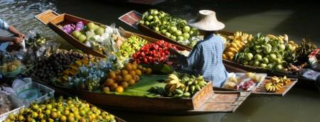 flydende frugtmarked i rayong