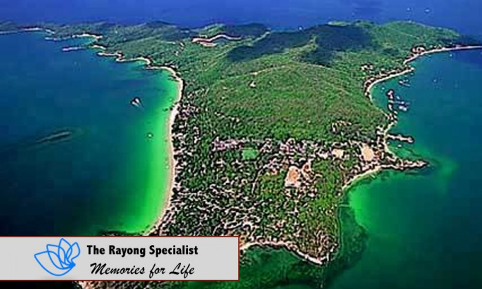 Koh Samet from bird's eye view in Rayong