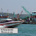 Speed boat going to the islands around Rayong
