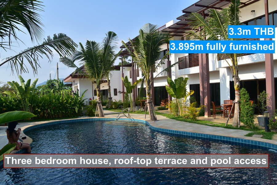 Buy a big luxury house with roof top terrace and pool access for Selling a house with a pool