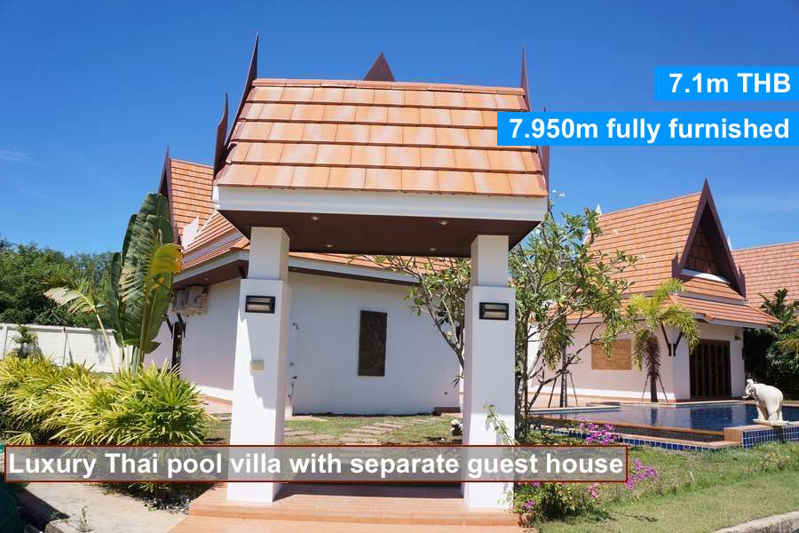 Buy a house with pool at the beach in ban phe rayong mae for Selling a house with a pool