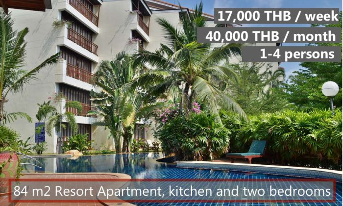 E Rent a 2-bedroom big luxury apartment in VIP Chain Resort Rayong
