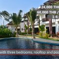 E Rent a big luxury house with roof-top terrace and pool access in Rayong