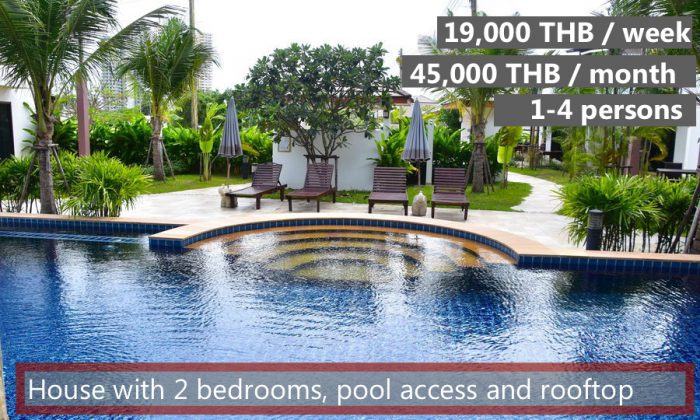 E Rent a holiday house in Oasis Garden and Pool Resort at Mae Rampheung Beach in VIP Chain Resort, Rayong