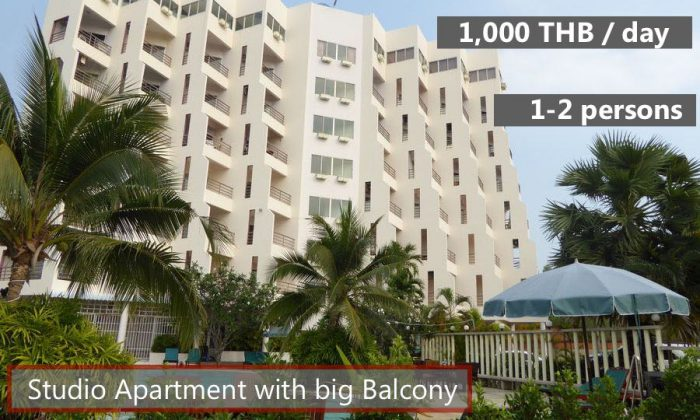 E2 Rent a cheap apartment in Sea Sand Sun Resort Rayong