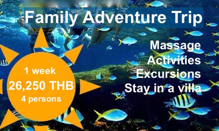 Family Adventure Trip package tour VIP Real Estate Mae Rampheung Beach Rayong Thailand